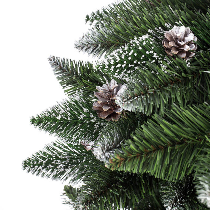 Arbre de Noël Artificiel Pin Naturel enneigé Slim