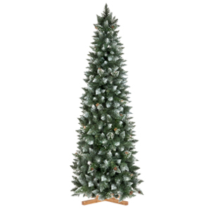 Arbre de Noël Artificiel Pin Naturel enneigé Slim