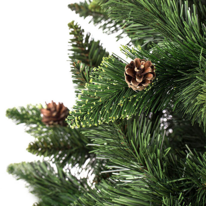 Arbre de Noël Artificiel Pin Naturel Vert Slim-