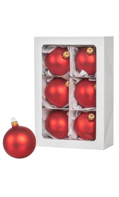 Image En Couleur De Noel.Boules De Noel En Couleur Rouge 6 Pieces De 8 Cm